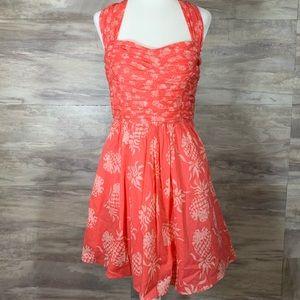 Tommy Bahama Dresses - Tommy Bahama Pineapple Halter Dress